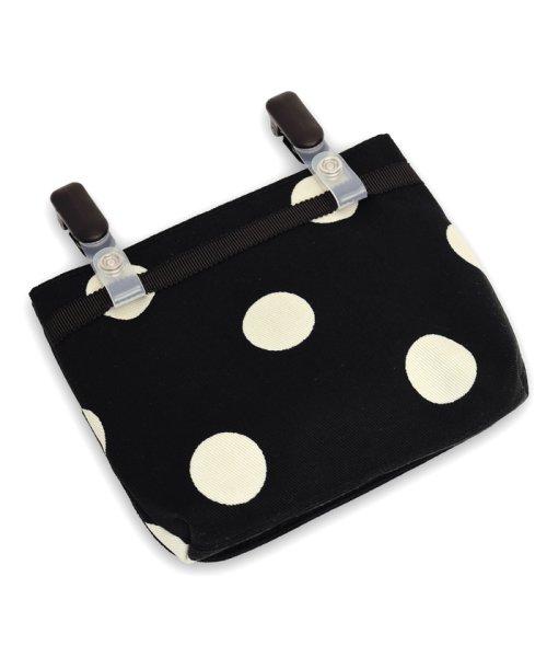 COLORFUL CANDY STYLE(カラフルキャンディスタイル)/decorPolkaDot移動ポケット・付けポケット【ラージ】polkadotlarge(twill・black)xnarrowstripe(twill・bla/N6080010_img02