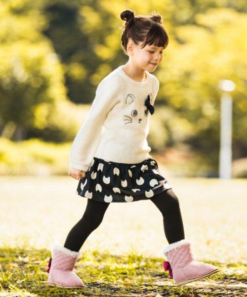 anyFAM(KIDS)(エニファム(キッズ))/【WEB限定カラー有り/KIDS雑貨】撥水リボンフェイクムートン ブーツ/SEZ3YW0300_img04