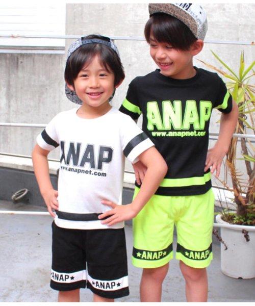 ANAP KIDS(アナップキッズ)/ラインデザイントップス+ハーフパンツSET-UP/0480300251_img01