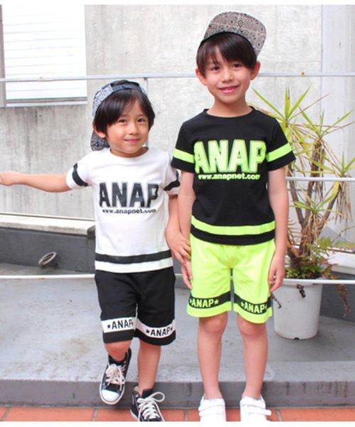 ANAP KIDS(アナップキッズ)/ラインデザイントップス+ハーフパンツSET-UP/0480300251_img02