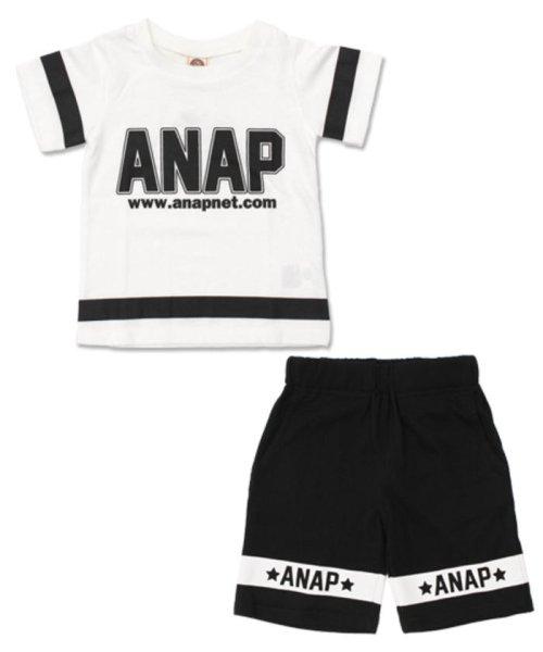 ANAP KIDS(アナップキッズ)/ラインデザイントップス+ハーフパンツSET-UP/0480300251_img13