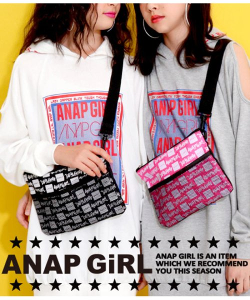 ANAP GiRL(アナップガール)/ロゴ柄サコッシュ/2000300447_img01