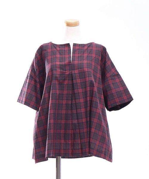 collex(collex)/コットンリネンチェックシャツ/60370605001_img01