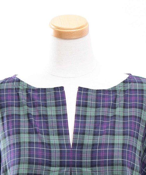 collex(collex)/コットンリネンチェックシャツ/60370605001_img05