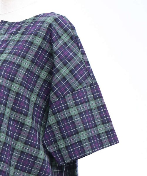 collex(collex)/コットンリネンチェックシャツ/60370605001_img06