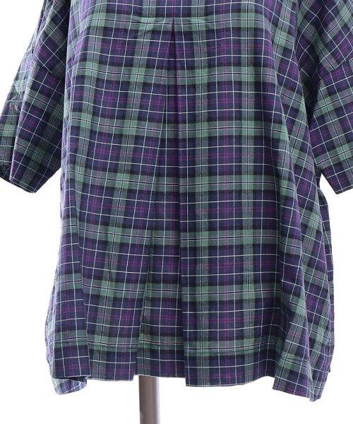 collex(collex)/コットンリネンチェックシャツ/60370605001_img07