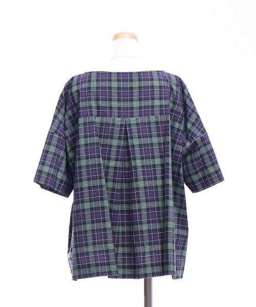 collex(collex)/コットンリネンチェックシャツ/60370605001_img09