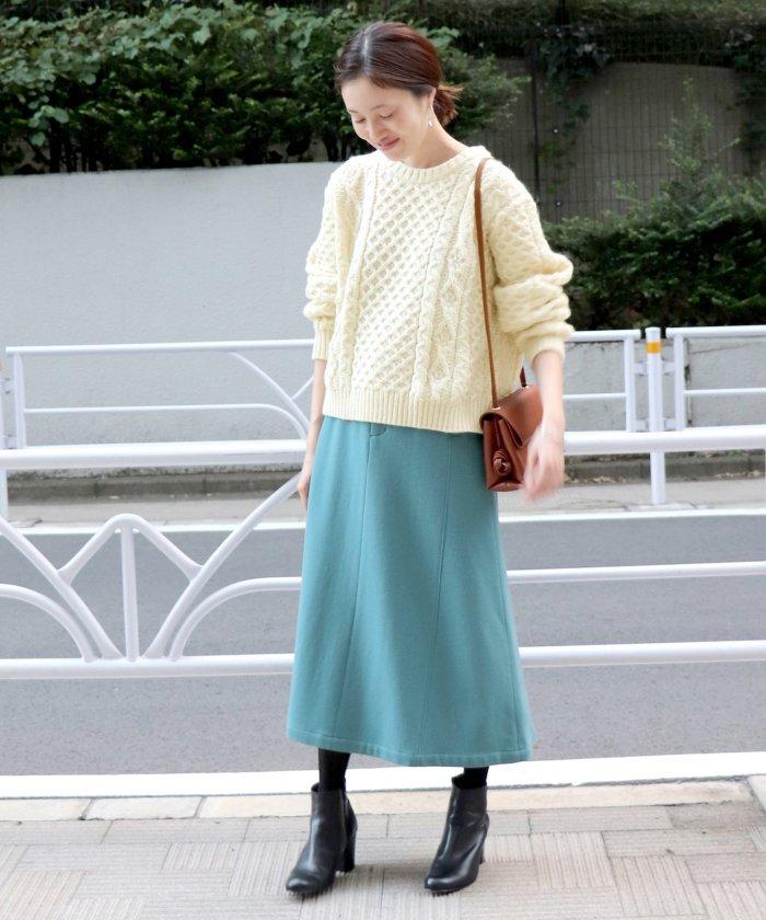 ウールストレッチマーメイドスカート