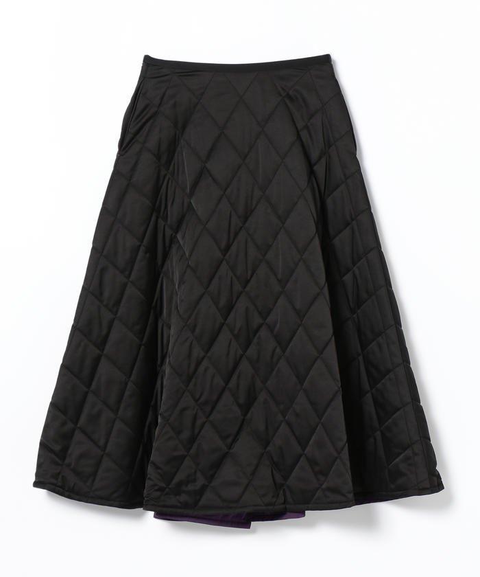 BEAMS WOMEN リバーシブル キルト フレア スカート