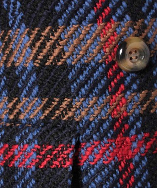 LAPINE BLEUE(ラピーヌ ブルー)/カラーロービングチェックコート/238155_img07