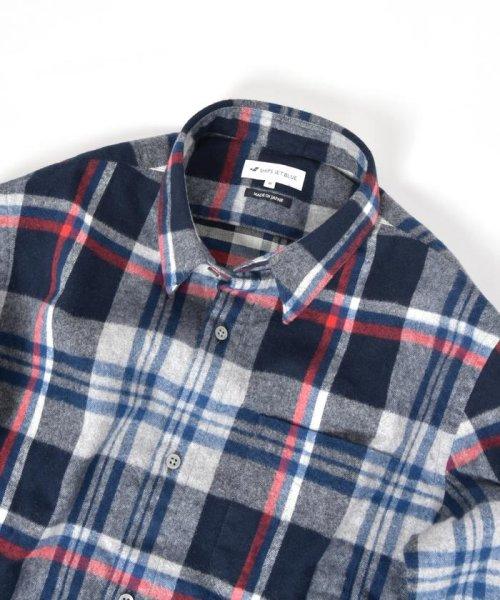 SHIPS JET BLUE(シップス ジェットブルー)/SHIPS JET BLUE: チェック レギュラーカラーネルシャツ/121160023_img01