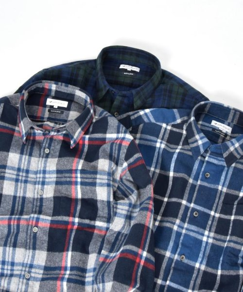 SHIPS JET BLUE(シップス ジェットブルー)/SHIPS JET BLUE: チェック レギュラーカラーネルシャツ/121160023_img06