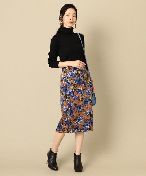 SHIPS WOMEN(シップス ウィメン)/フラワープリントタイトスカート/313250322_img03