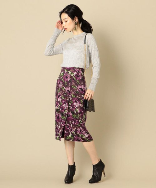 SHIPS WOMEN(シップス ウィメン)/フラワープリントタイトスカート/313250322_img05