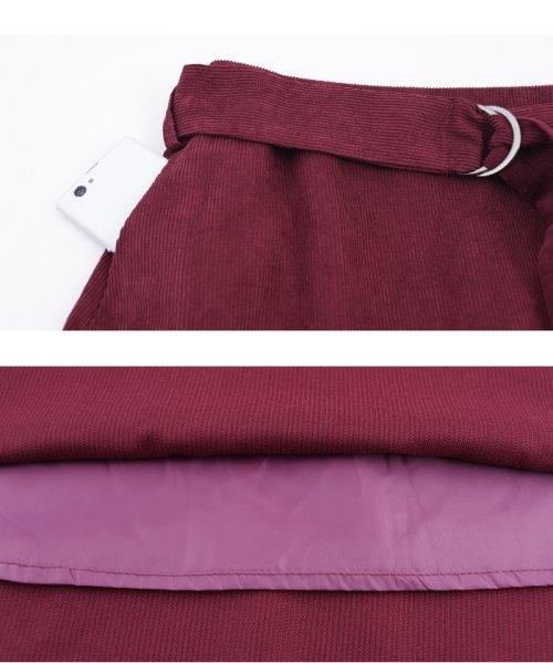 ur's(ユアーズ)/ベルト付裾フレアコーデュロイスカート/BQXU0273_img06
