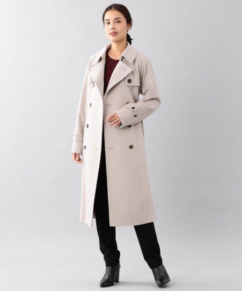 SANYO COAT(サンヨーコート)/<Rain Wool>ウールカシミヤダブルトレンチコート/T1B54834--_img03
