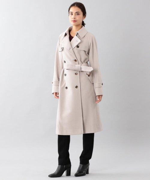 SANYO COAT(サンヨーコート)/<Rain Wool>ウールカシミヤダブルトレンチコート/T1B54834--_img12