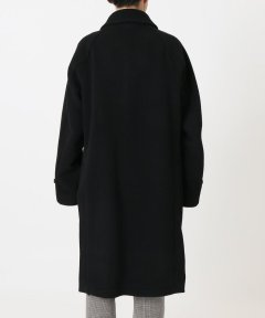 Wool Nylon Raglan Coat 18020330801030: Black