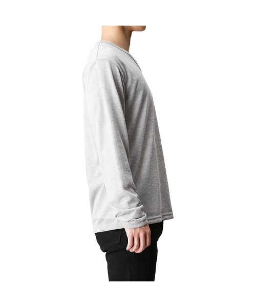MAC HOUSE(men)(マックハウス(メンズ))/Real Standard Vネックニットソーアンサンブル長袖Tシャツ 73-7108P-ND/01221700370_img02