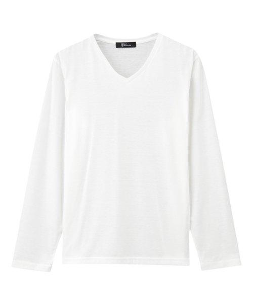 MAC HOUSE(men)(マックハウス(メンズ))/Real Standard Vネックニットソーアンサンブル長袖Tシャツ 73-7108P-ND/01221700370_img05