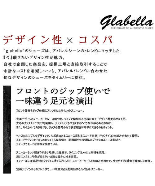 glabella(グラベラ)/フロントジップナイロンスニーカー/MA-1スニーカー/GLBB-127_img02
