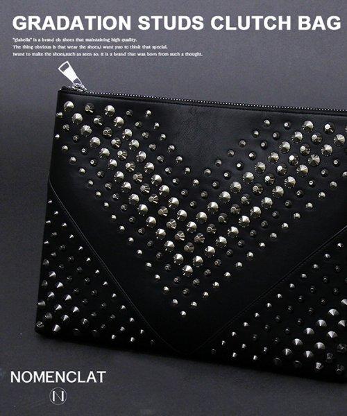 NOMENCLAT(ノーメンクラート)/グラデーションスタッズクラッチバッグ/NCBG-1013_img01