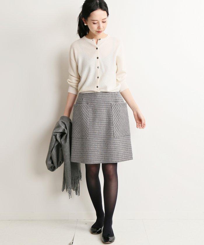 イエナ  チェック台形スカート