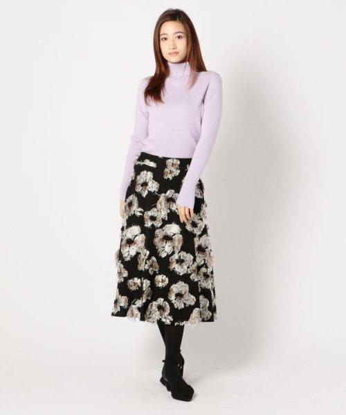 MISCH MASCH(ミッシュマッシュ)/花柄ジャカードフレアースカート/850000305119682_img05
