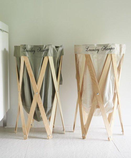 En Fance(アンファンス)/Laundry Hamper ナチュラル×グレー/4573298390123_img01