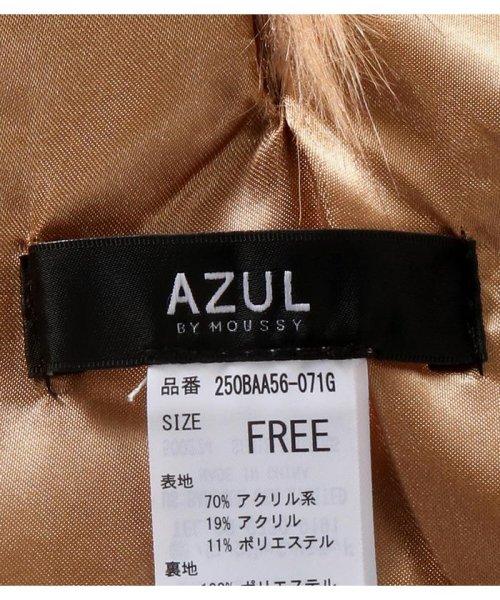 AZUL by moussy(アズールバイマウジー)/ミックスエコファー変形ティペット/250BAA56-071G_img15