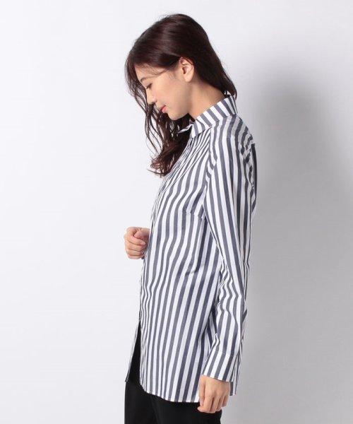 LAPINE BLEUE(ラピーヌ ブルー)/【洗える】サイロストライプシャツ/230845_img01
