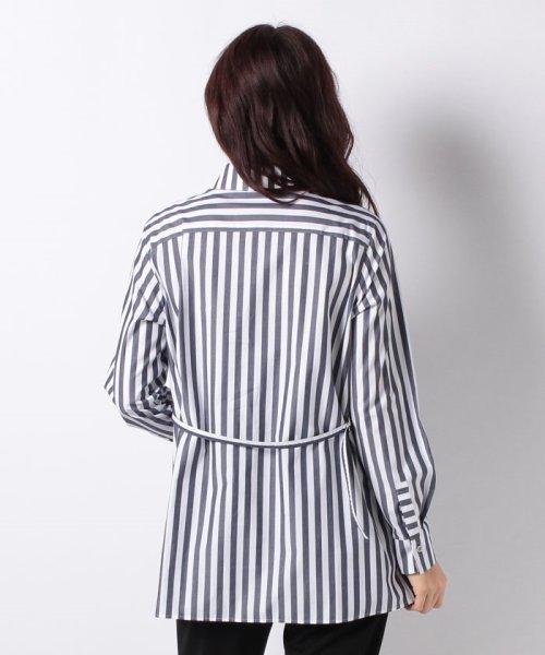 LAPINE BLEUE(ラピーヌ ブルー)/【洗える】サイロストライプシャツ/230845_img02
