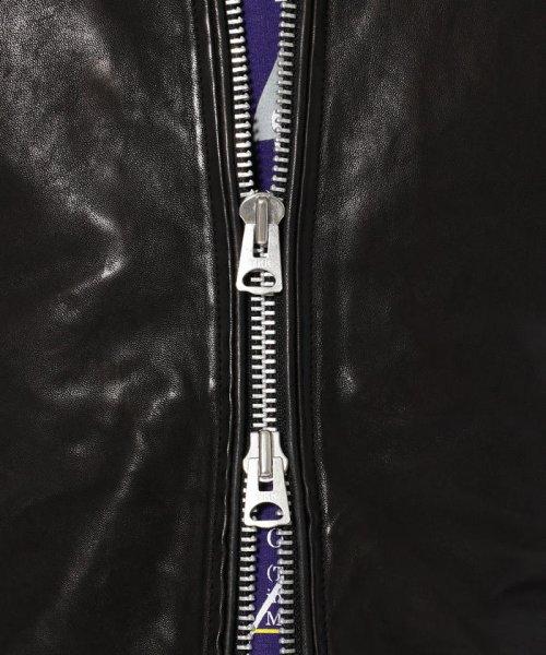 LHP(エルエイチピー)/LHP/エルエイチピー/シープスキン パディングシングルライダースジャケット《THERMOLITE》/8681016-60_img05