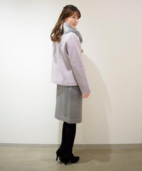 Eimy Peal by POWDER SUGAR(エイミーパール バイ パウダーシュガー)/サーモサキソニー素材チェックタイトスカート/3K728720A_img03