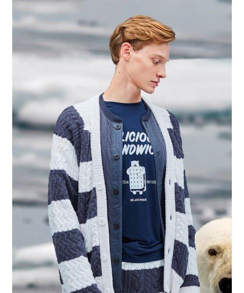 GELATO PIQUE HOMME(GELATO PIQUE HOMME)/【GELATO PIQUE HOMME】アイスサンドウィッチワンポイントTシャツ/PMCT185972_img01