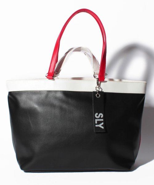 SLY(BAG)(スライ(バッグ))/【SLY】【SLY】SPORTS MIX 2WAY TOTE/S09100001_img08