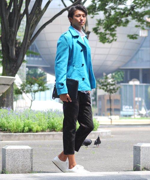 SPADE(スペイド)/Pコート メンズ ピーコート 長袖 コート メルトン ウール Pコート きれいめ ショート丈 人気 学生 スクール アウター 上品 きれいめ アウター トラッド/q740_img09