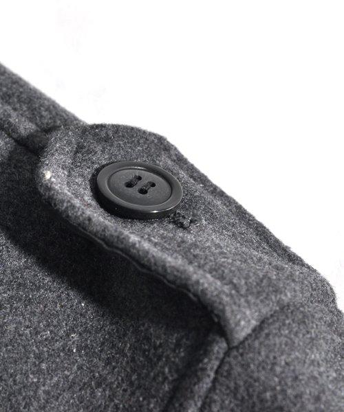 SPADE(スペイド)/Pコート メンズ ピーコート 長袖 コート メルトン ウール Pコート きれいめ ショート丈 人気 学生 スクール アウター 上品 きれいめ アウター トラッド/q740_img14