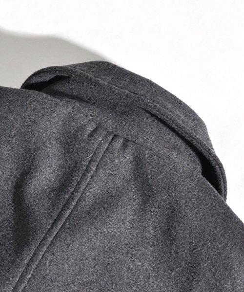 SPADE(スペイド)/Pコート メンズ ピーコート 長袖 コート メルトン ウール Pコート きれいめ ショート丈 人気 学生 スクール アウター 上品 きれいめ アウター トラッド/q740_img15