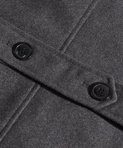 SPADE(スペイド)/Pコート メンズ ピーコート 長袖 コート メルトン ウール Pコート きれいめ ショート丈 人気 学生 スクール アウター 上品 きれいめ アウター トラッド/q740_img18