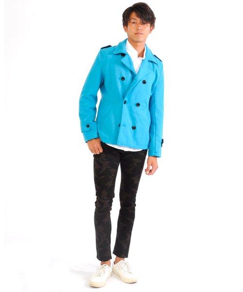SPADE(スペイド)/Pコート メンズ ピーコート 長袖 コート メルトン ウール Pコート きれいめ ショート丈 人気 学生 スクール アウター 上品 きれいめ アウター トラッド/q740_img35