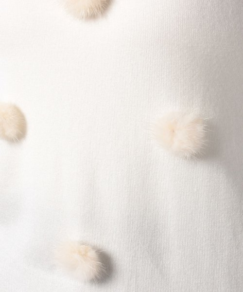 Eimy Peal by POWDER SUGAR(エイミーパール バイ パウダーシュガー)/Vネックミンクチラシニット/5T5165665_img07