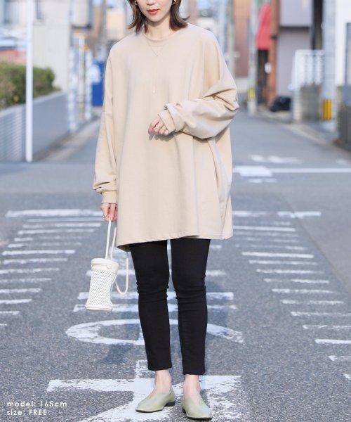reca(レカ)/ボリューム袖ゆったりスウェット/100589_img01