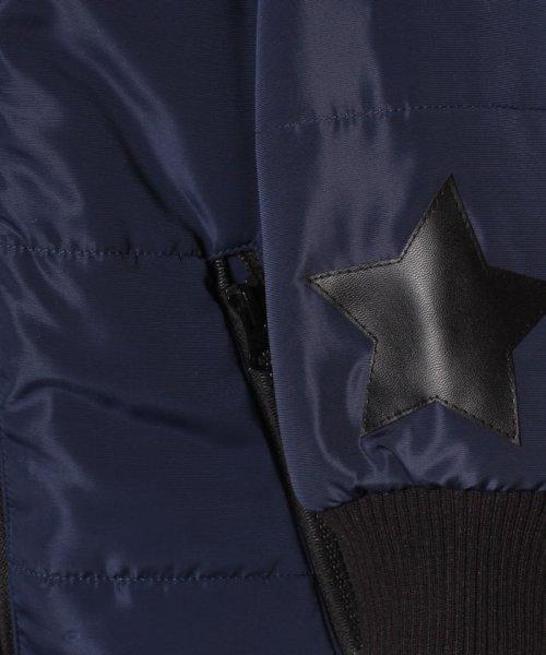 b-ROOM(ビールーム)/星形パッチつきロング丈中わたブルゾン/9884302_img07