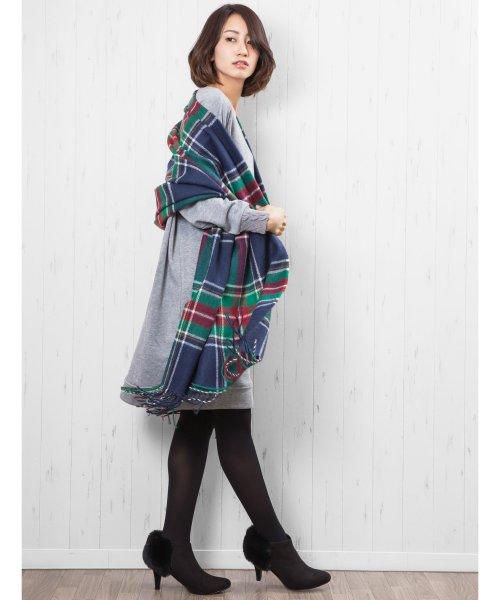 mili an deni(ミリアンデニ)/大判チェックストール 大判 ストール チェック マフラー アクセサリー ファッション小物 レディース/ac7313_img01