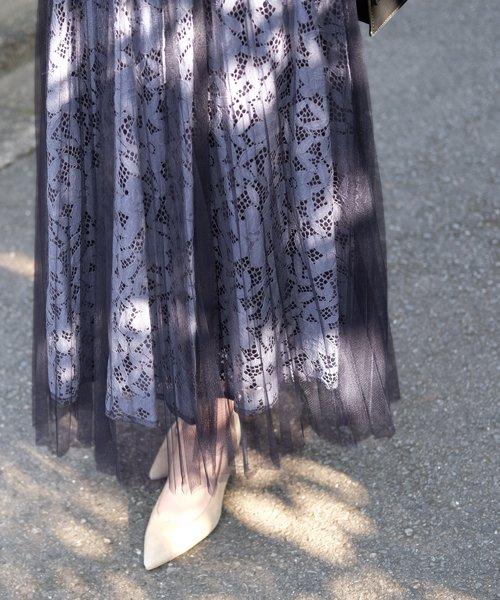 STRAWBERRY FIELDS(ストロベリーフィールズ)/DVクーベルチュール スカート/8614211_img22