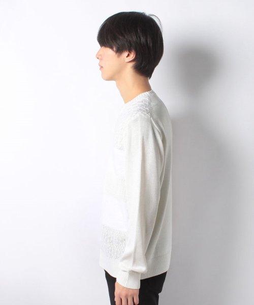 Men's Bigi(メンズビギ)/編み柄切り替えボーダーニット/M0184KSW09_img01