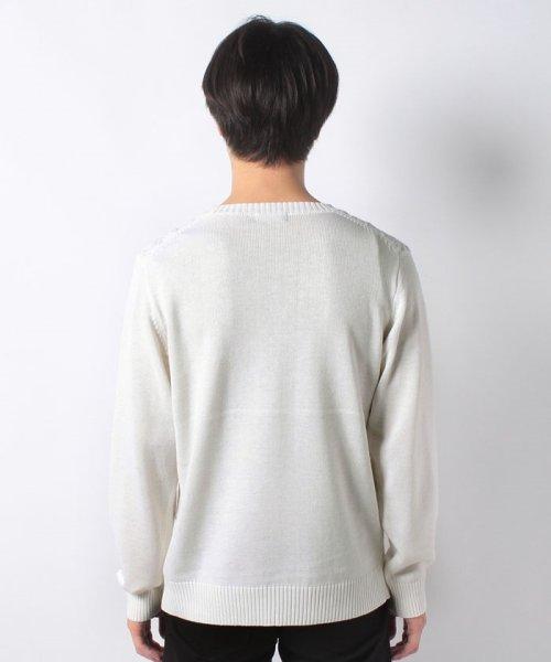 Men's Bigi(メンズビギ)/編み柄切り替えボーダーニット/M0184KSW09_img02