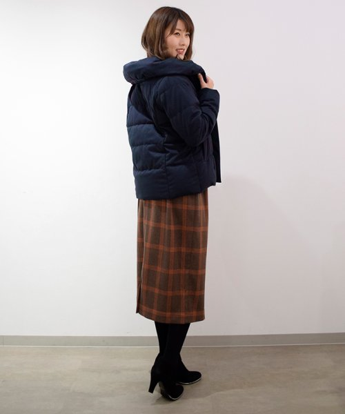 Eimy Peal by POWDER SUGAR(エイミーパール バイ パウダーシュガー)/ウエストぺプラムベルト付チェック柄タイトスカート/2K718817_img10