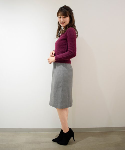 Eimy Peal by POWDER SUGAR(エイミーパール バイ パウダーシュガー)/サーモサキソニー素材チェックタイトスカート/3K728720A_img10